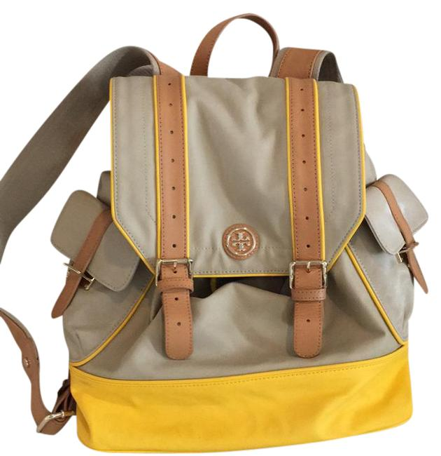 Item - Rare Beige and Yellow Canvas Backpack