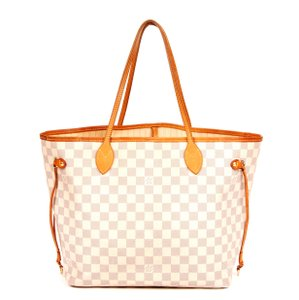 Louis Vuitton Neverfull Mm Damier Canvas Tote in Azur