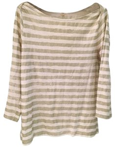 J.Crew T Shirt Gold and white