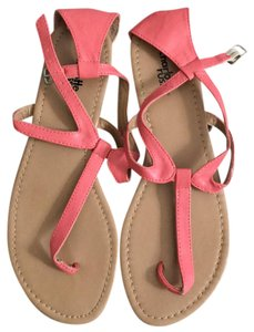Charlotte Russe pink, tan Sandals