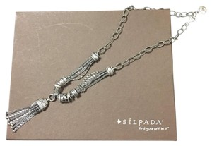 Silpada Silpada Sterling Silver Gathered Tassle Necklace