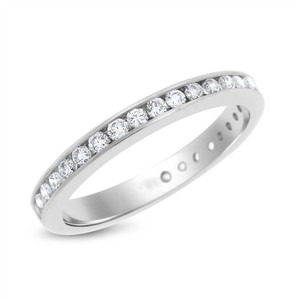 Other 0.53 Ct. Natural Diamond Eternity Band Ring In Solid 18k White Gold