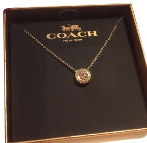 Coach Coach Open Circle Stone Necklace