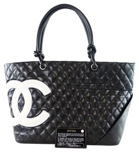 Chanel Quilted Cc Large Tote in Black