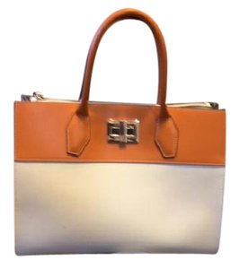 Alberta Di Canio Satchel in White and orange