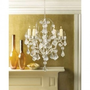 Ivory 5 Vintage Chandeliers Sale Reception Decoration