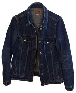 American Eagle Outfitters Denim Aeo Dark Blue Womens Jean Jacket