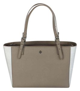 Tory Burch Tote in French Gray/Metallic Silver