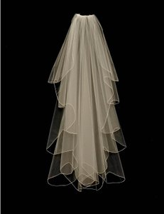 J.L. Johnson Bridals Ivory Custom Made Knee Length Waterfall Wedding Veil