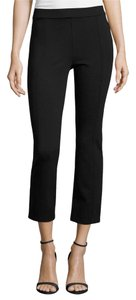 Tory Burch Classic Pleated Ankle Straight Pants Black