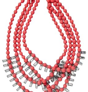 Banana Republic Banana Republic Coral Rhinestone statement necklace