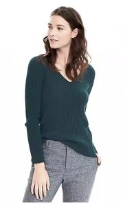 Banana Republic Cashmere V-neck Wool Sweater