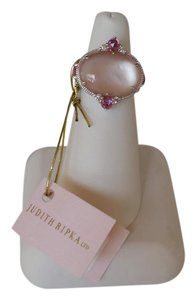 Judith Ripka Sterling Silver Pink Mother of Pearl Doublet White Sapphire