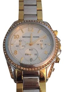 Michael Kors Two tone watch with crystals
