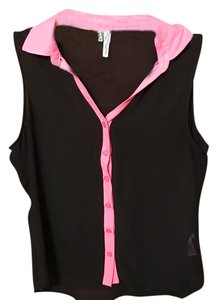 Maurices Button Down Shirt black & pink