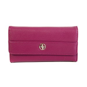 Adrienne Vittadini Adrienne Vittadini Faux Pebbled Leather Studio Fold-Out Wallet - Wine