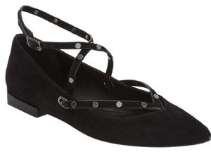 Rebecca Minkoff Luxe Studded Leather Black Flats
