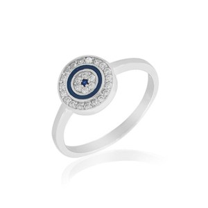 9.2.5 Beautiful sapphire evil eye ring size 8