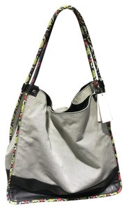 Proenza Schouler Snakeskin Canvas Leather Tote in Gray, black, red
