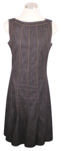 Sandra Darren short dress Blue Denim Stretchy on Tradesy