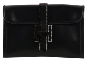 Hermès H Hr.k1024.04 Box Leather Envelope Clutch