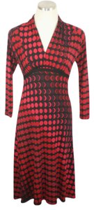 Donna Morgan Stretchy Polka Dot Empire Waist Dress