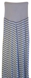 Motherhood Maternity Grey and Navy Blue Striped Maxi Skirt