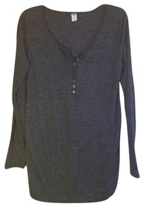 Old Navy Heather Gray Long Sleeve Maternity Top