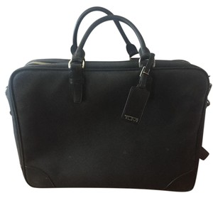 Tumi Tsa-friendly Leather Briefcase Laptop Messenger Bag