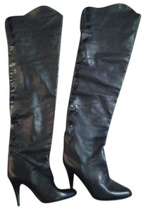Vintage Leather Uppers black Boots