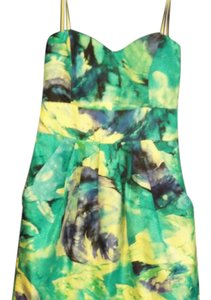 B. Smart short dress multi-color Abstract Flowers In Strapless on Tradesy