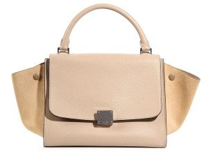 Céline Neutral Ce.k1001.10 Suede Satchel in Beige