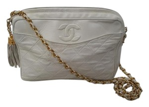Chanel Leather Gold Gold Hardware Braided Lambskin Shoulder Bag