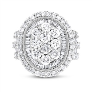 Other 2.76 Ct. Natural Diamond Huge Oval Shaped Cocktail Halo Ring In Solid