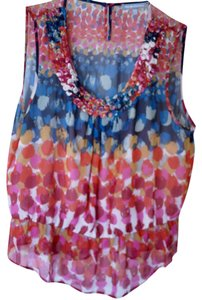 Daniel Rainn Spring Top multicolor - navy, reds/pinks