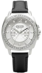 Coach Coach Boyfriend 14501789 Black Leather Signature Glitz Womens Watch