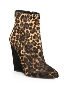 Prada Ankle Boots Leopard Wedges