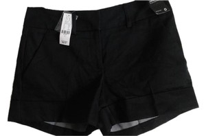 New York & Company Casual Stretchy Cuffed Shorts Black