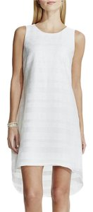 Vince Camuto short dress White Organza High Low Nordstrom on Tradesy