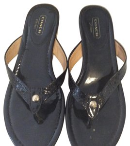 Coach Wedge black Sandals