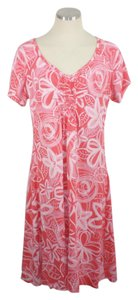 Fresh Produce short dress Red Beach Floral Large on Tradesy