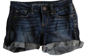 American Eagle Outfitters Stretchy Cut Off Shorts Dark blue