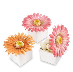Kate Aspen Pink and Orange Gerber Daisy Boxes- 44 Wedding Favors