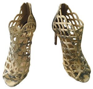 Vince Camuto Cream Snakeskin Pumps