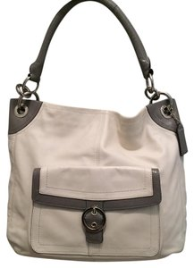 Coach Two-tone Patent Leather Classic Leather Hobo Bag