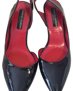 Charles Jourdan Sling Patent Leather black Pumps