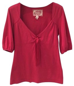 Anthropologie Top Crimson red