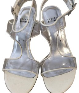Stuart Weitzman Clear Heels white Sandals