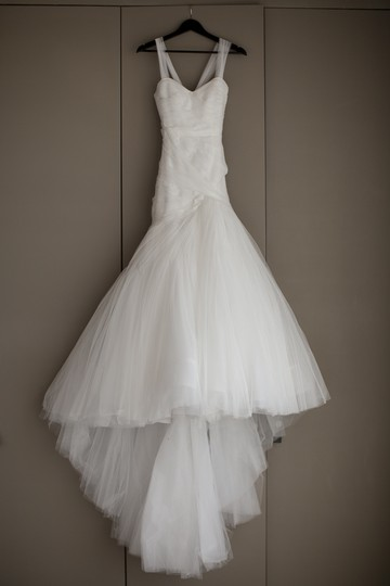Monique Lhuillier White Spanish Tulle Forever Sexy Wedding Dress Size 0 (XS)