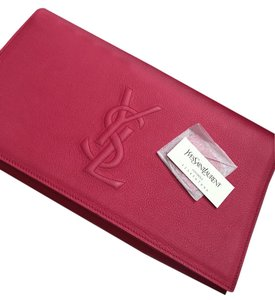 Saint Laurent Ysl Ysl Belle De Jour Pink Clutch